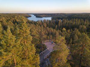 Näköalapaikka Espoossa.